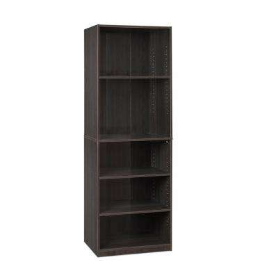 JAYA 5-Shelf Espresso Open Bookcase