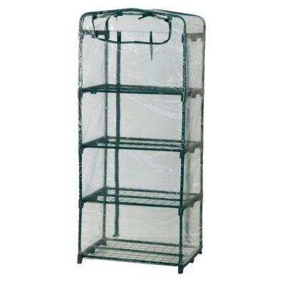 63 in. H x 27 in. W x 19 in. D Plant Tower Single Cover Greenhouse