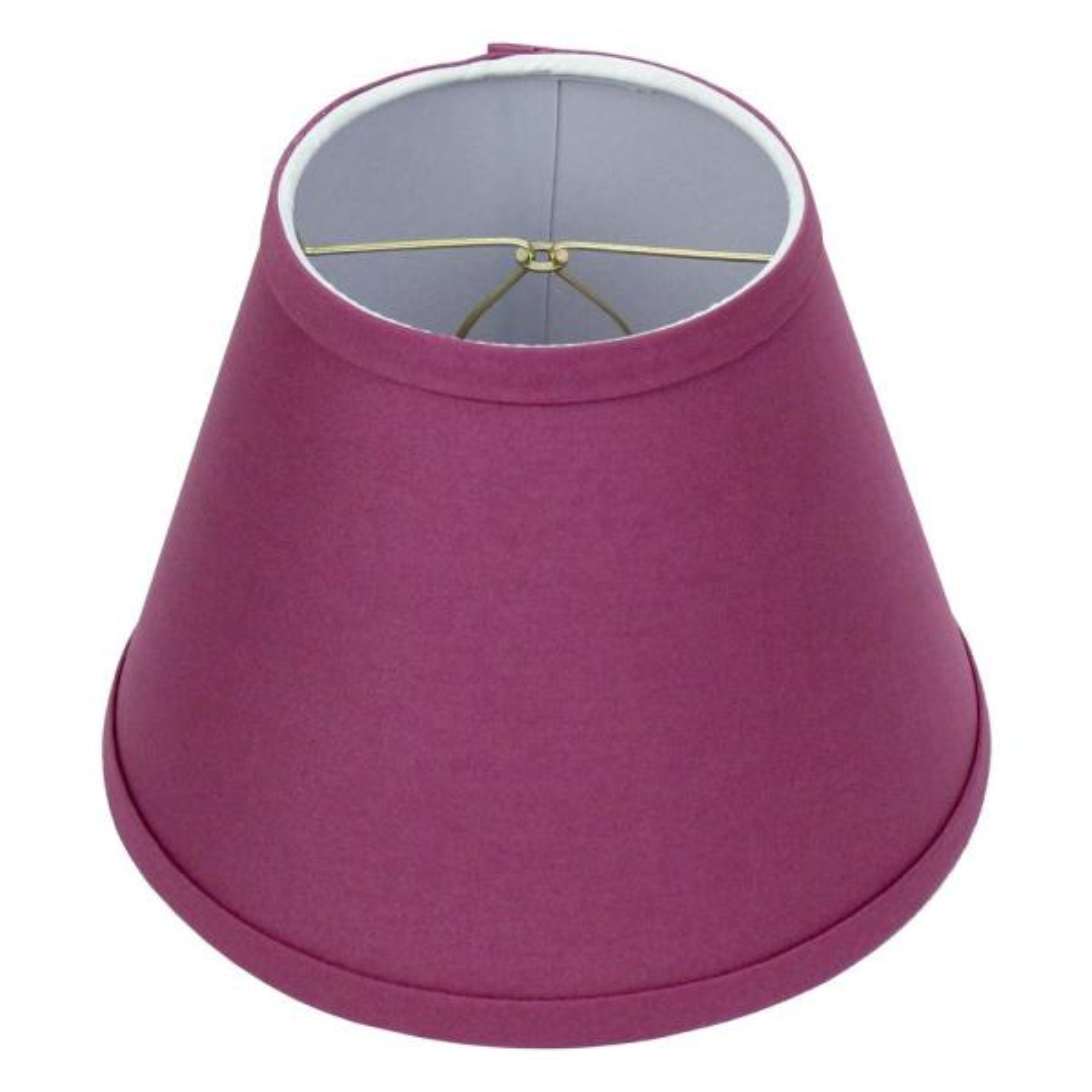 5 in. Top Diameter x 9 in. Bottom Diameter x 7 in. Slant Linen Plum Empire Lamp Shade