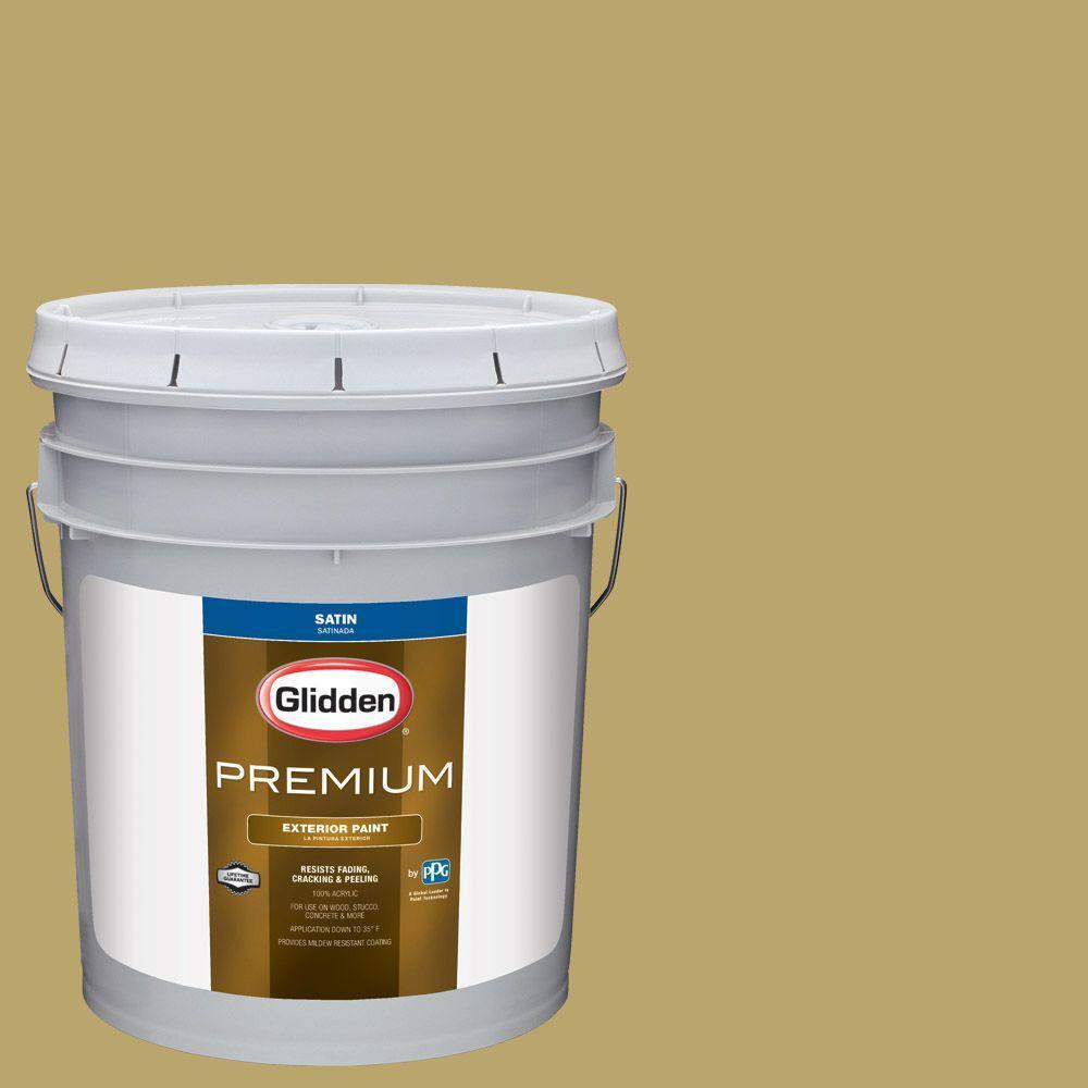 Glidden Premium 5 Gal Hdgy64 Golden Cactus Flower Satin Latex Exterior Paint Hdgy64px 05sa
