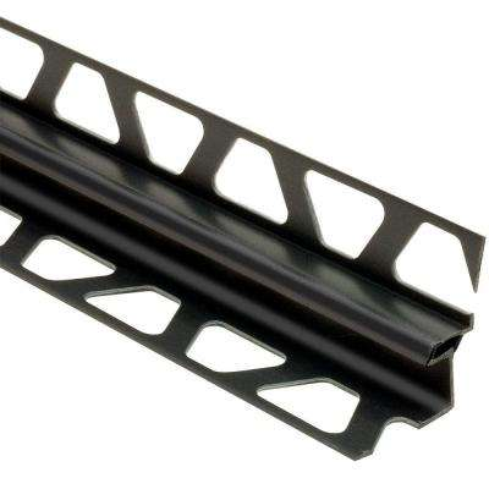 Dilex-EKE Black 9/32 in. x 8 ft. 2-1/2 in. PVC Corner Movement Joint Tile Edging Trim