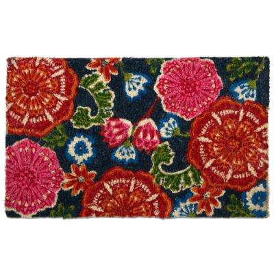Multicolor 18 in. x 30 in. Talavera Coir Door Mat