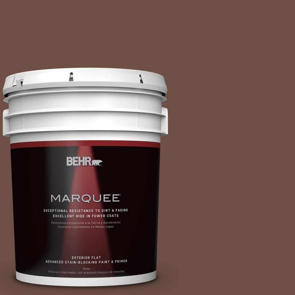 5-gal. #PMD-108 Double Chocolate Flat Exterior Paint