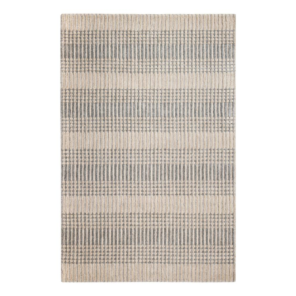 Hella Tufted Grey/Tan 5 ft. x 8 ft. Area Rug