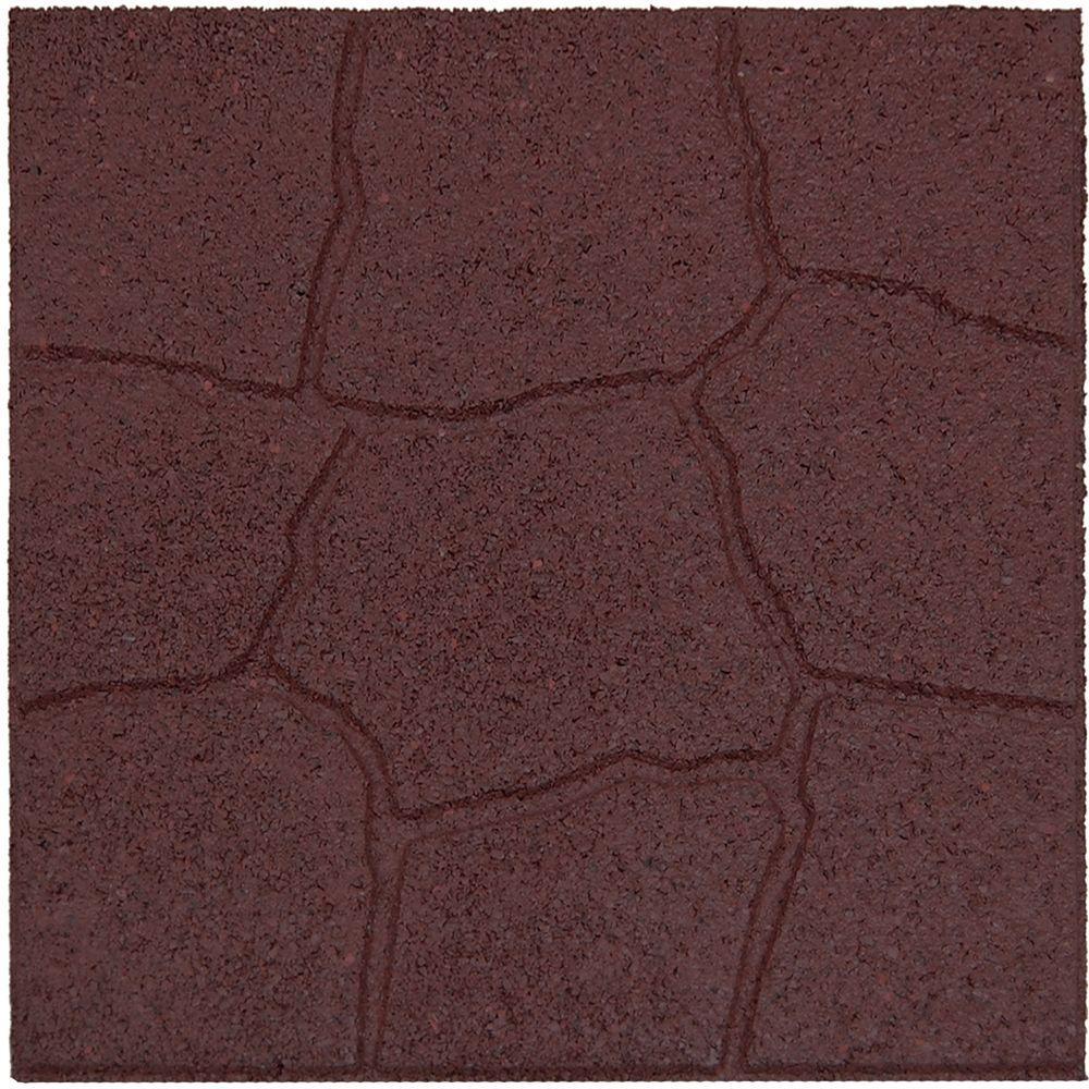 Envirotile 18 in. x 18 in. Flagstone Terra Cotta Rubber Paver