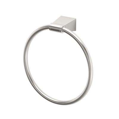 Bleu Towel Ring in Satin Nickel