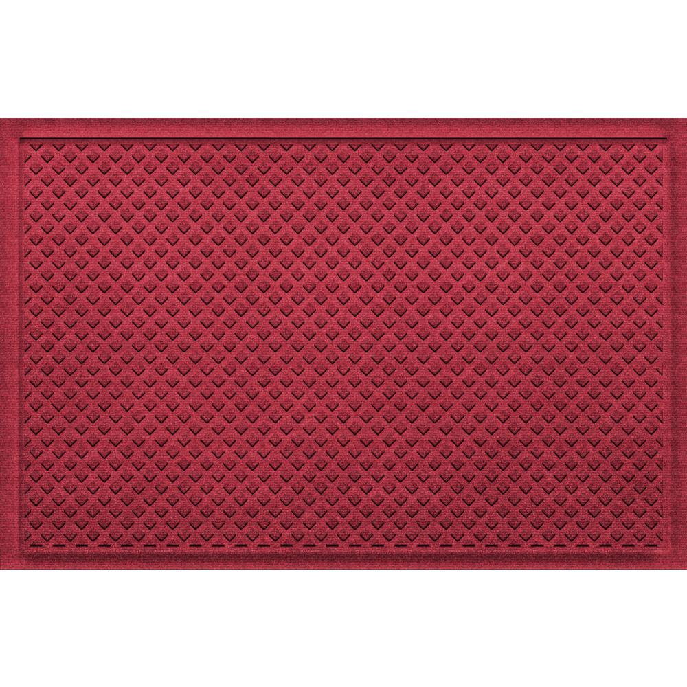 Aqua Shield Gems Red Black 24 in x 36 in Polypropylene Door Mat