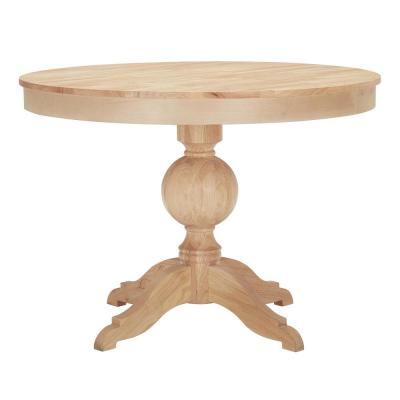 StyleWell Unfinished Wood Round Pedestal Table for 4 (42 in. L x 29.75 in. H)