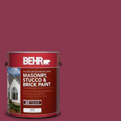 1 gal. #PPU1-12 Bolero Satin Interior/Exterior Masonry, Stucco and Brick Paint