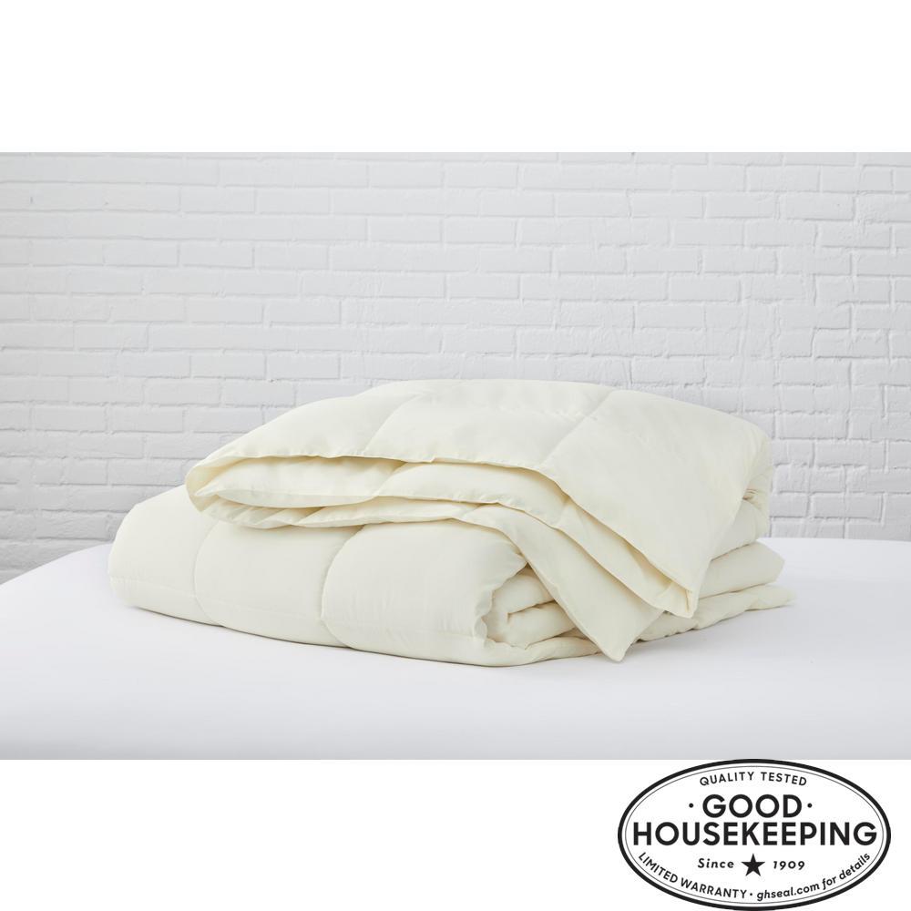 Ivory Microfiber Full/Queen Comforter