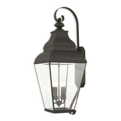 Exeter 4-Light Black Outdoor Wall Mount Lantern