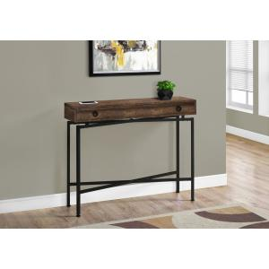 43 in. Brown Standard Rectangle Console Table with Drawers
