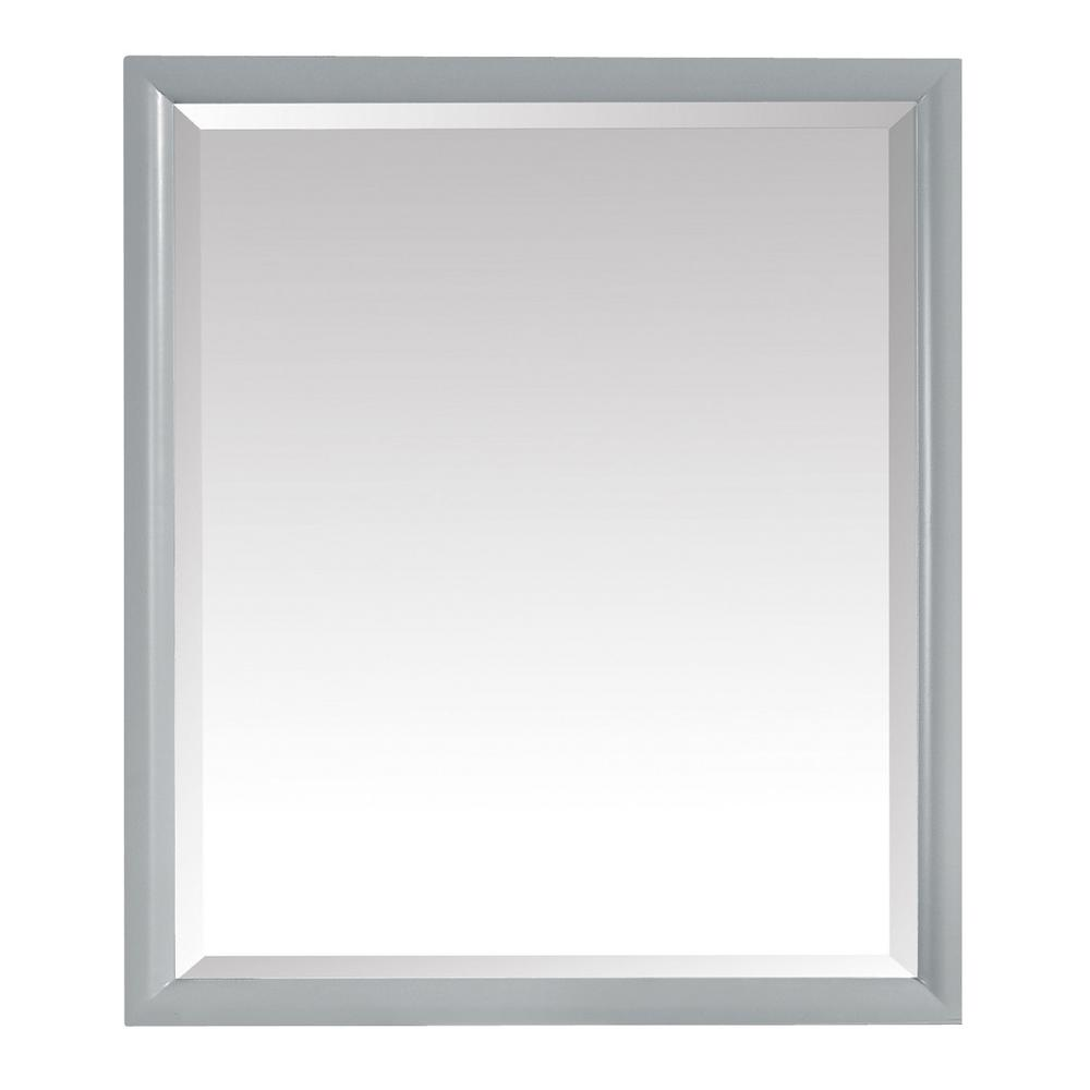 Emma 28 in. x 32 in. Framed Wall Mirror in Dove