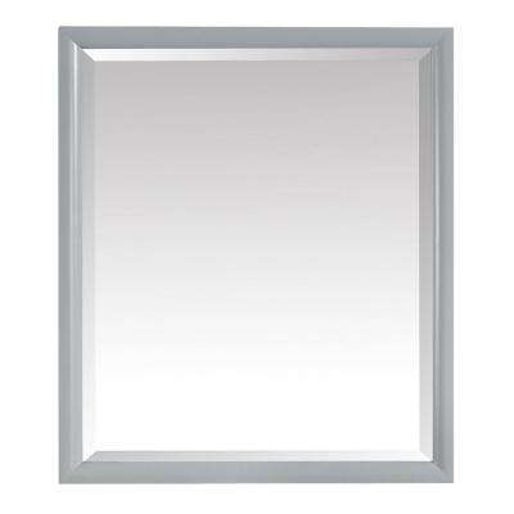 Emma 28 in. x 32 in. Framed Wall Mirror in Dove Gray