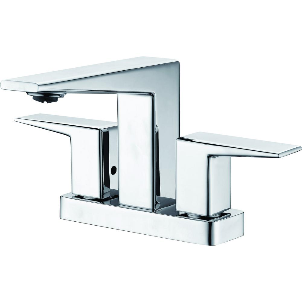 ALFI BRAND 4 in. Centerset 2-Handle Bathroom Faucet in Polished Chrome