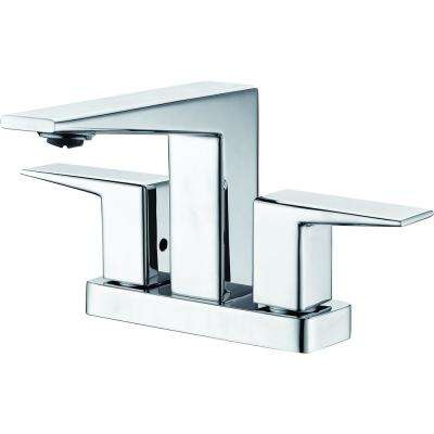 4 in. Centerset 2-Handle Bathroom Faucet in Polished Chrome