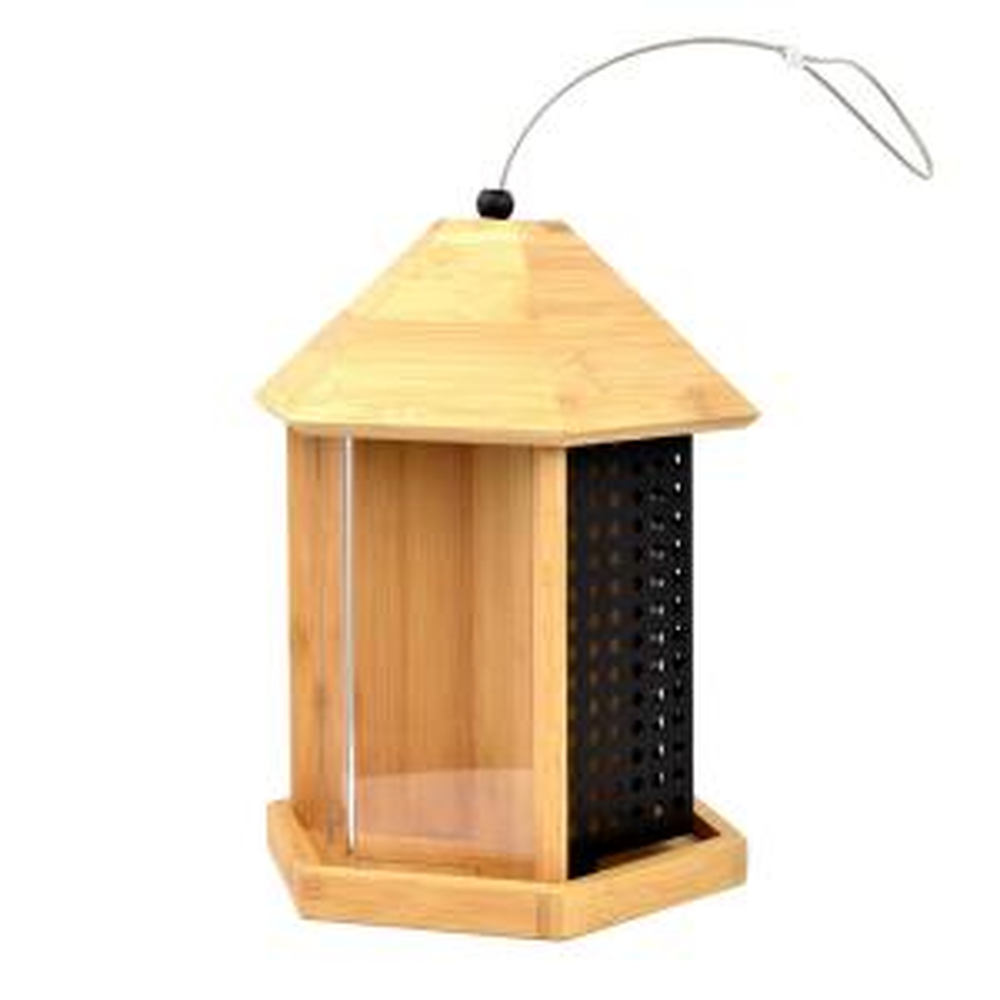 Trio Bamboo Hanging Bird Feeder - 3 lb. Total Capacity