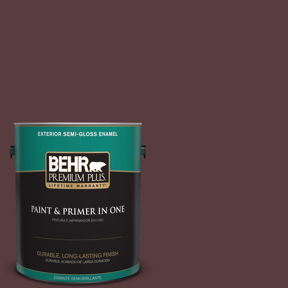 1 gal. #PPU1-02 Divine Wine Semi-Gloss Enamel Exterior Paint