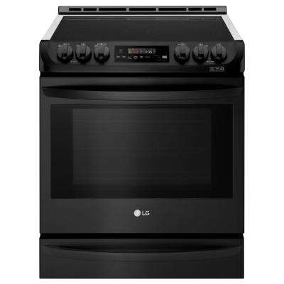 30 in. 6.3 cu. ft. Slide-in Electric Range with Pro Bake Convection, Self Clean and Wi-Fi in Matte Black Stainless Steel