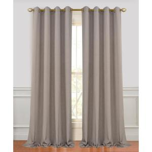 Madison 96 inch L Polyester Extra Long and Wide Linen Look Window Curtain Panel Pair in Coffee (2-Pack) by