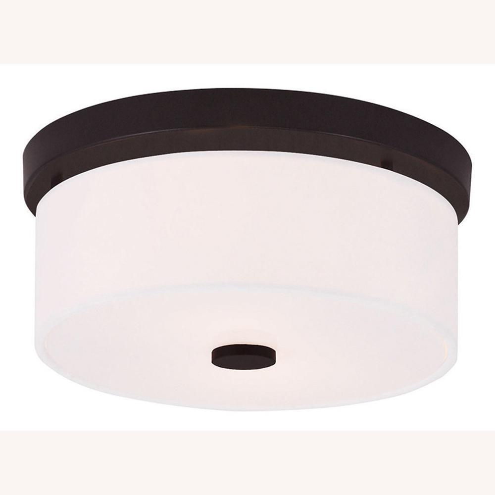 Meridian 2-Light Bronze Flushmount