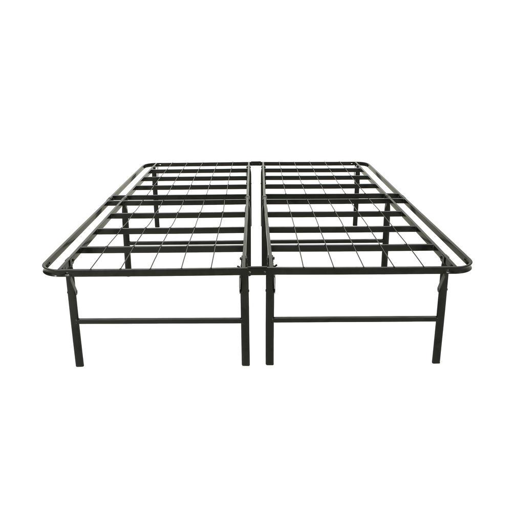 Mondamin Queen-Size Flat Black Iron Bed Frame