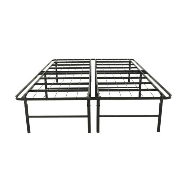 Noble House Mondamin Queen Size Flat Black Iron Bed Frame 53898 The Home Depot