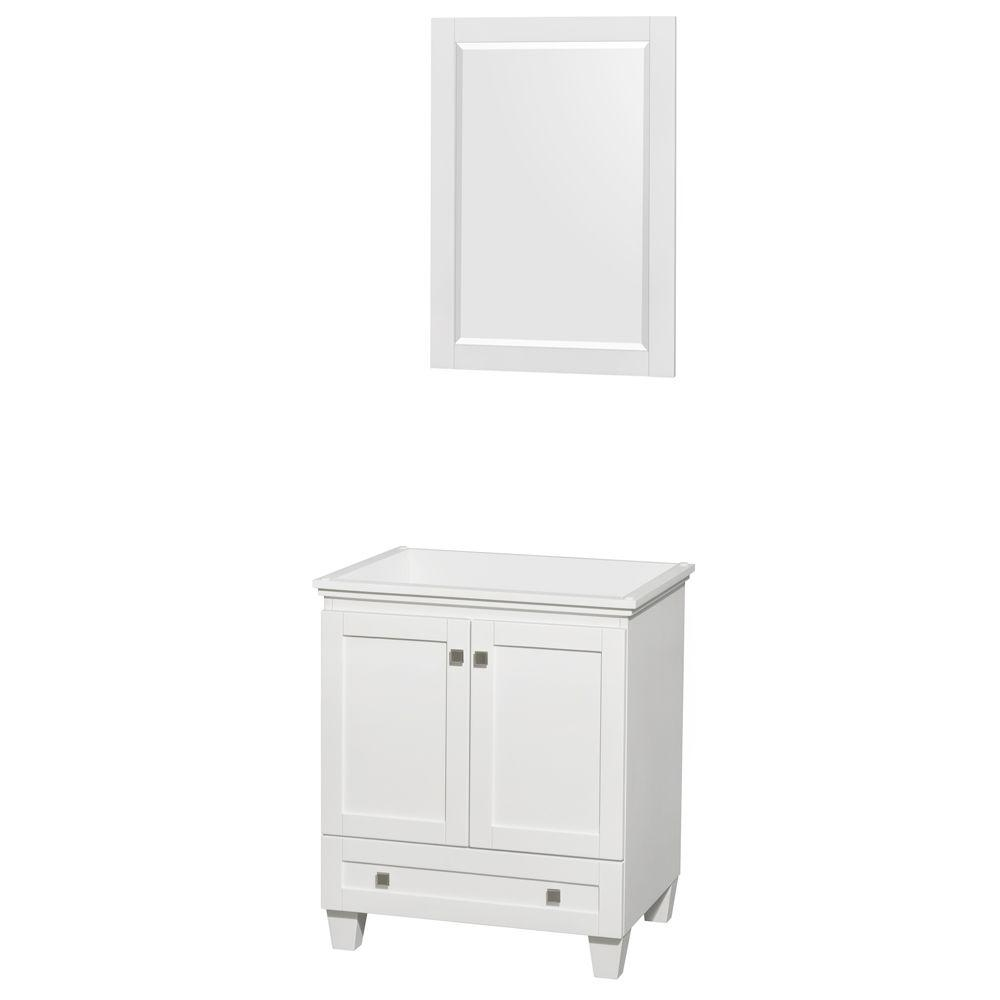 Wyndham Collection Acclaim 30 In Vanity Cabinet With Mirror In White Wcv800030swhcxsxxm24 The