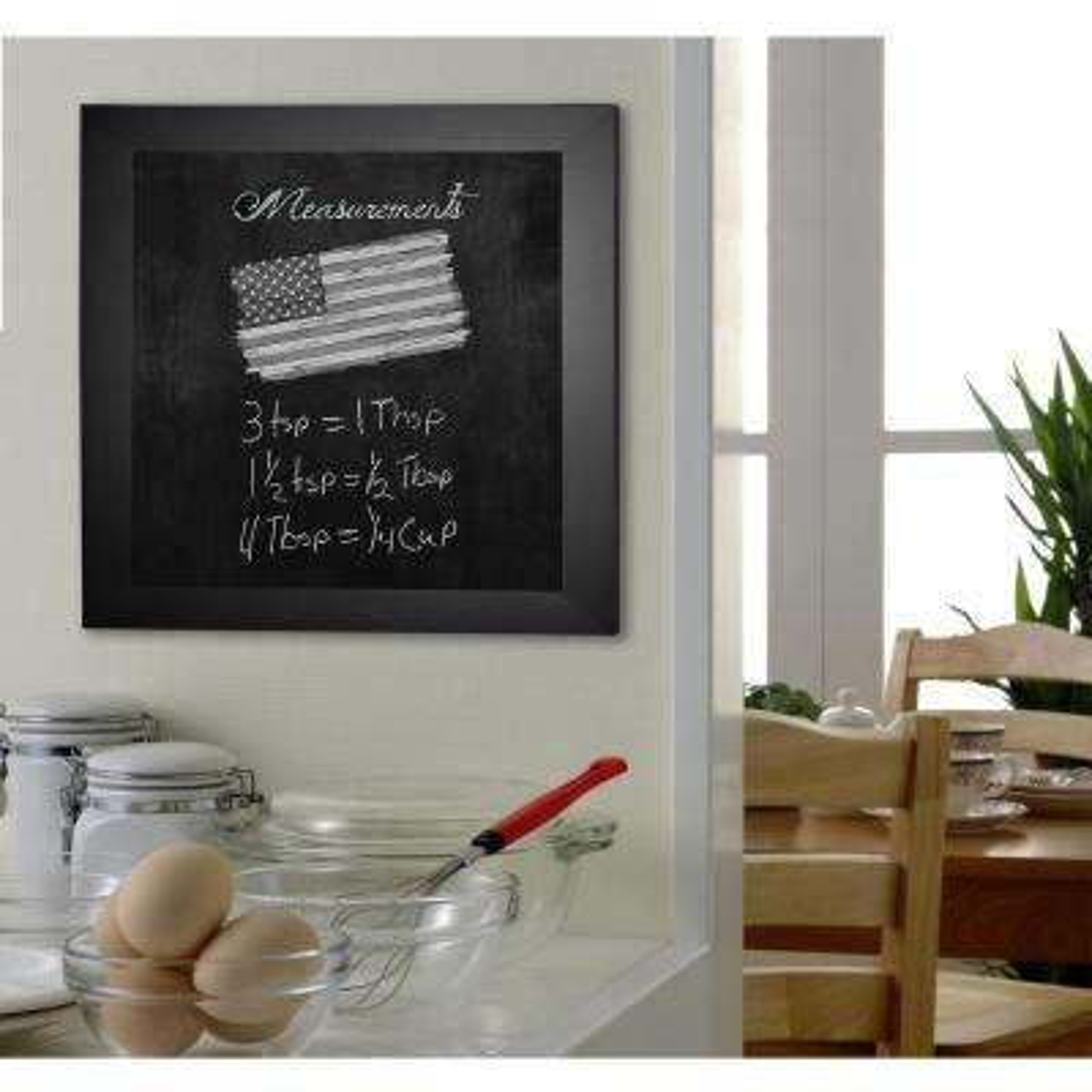 54 in. x 36 in. Black Satin Wide Blackboard/Chalkboard