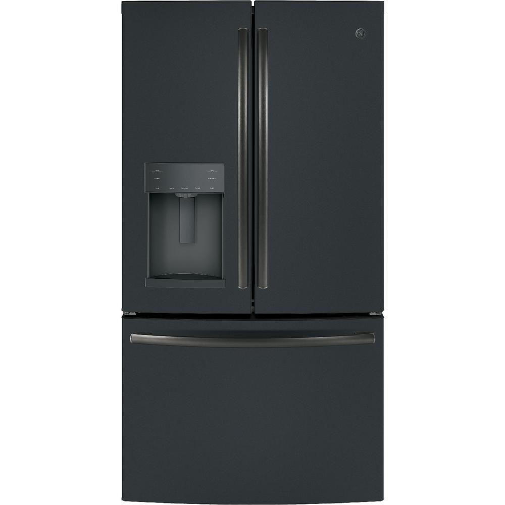 GE 27.8 cu. ft. French Door Refrigerator with Door-in-Door in Black Slate, Fingerprint Resistant