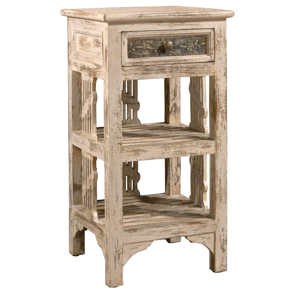 Hillsdale Furniture Alena Distressed Whitewash End Table