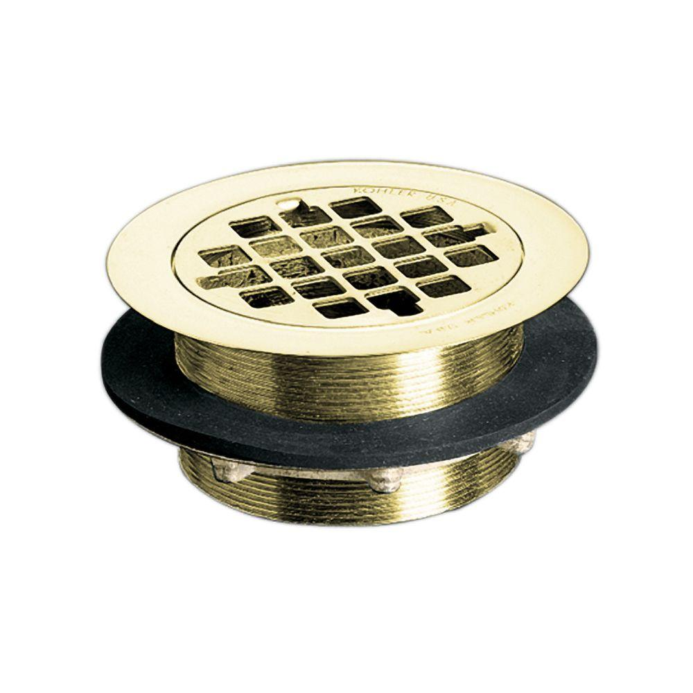 Brass Shower Drain in Vibrant Polished Brass