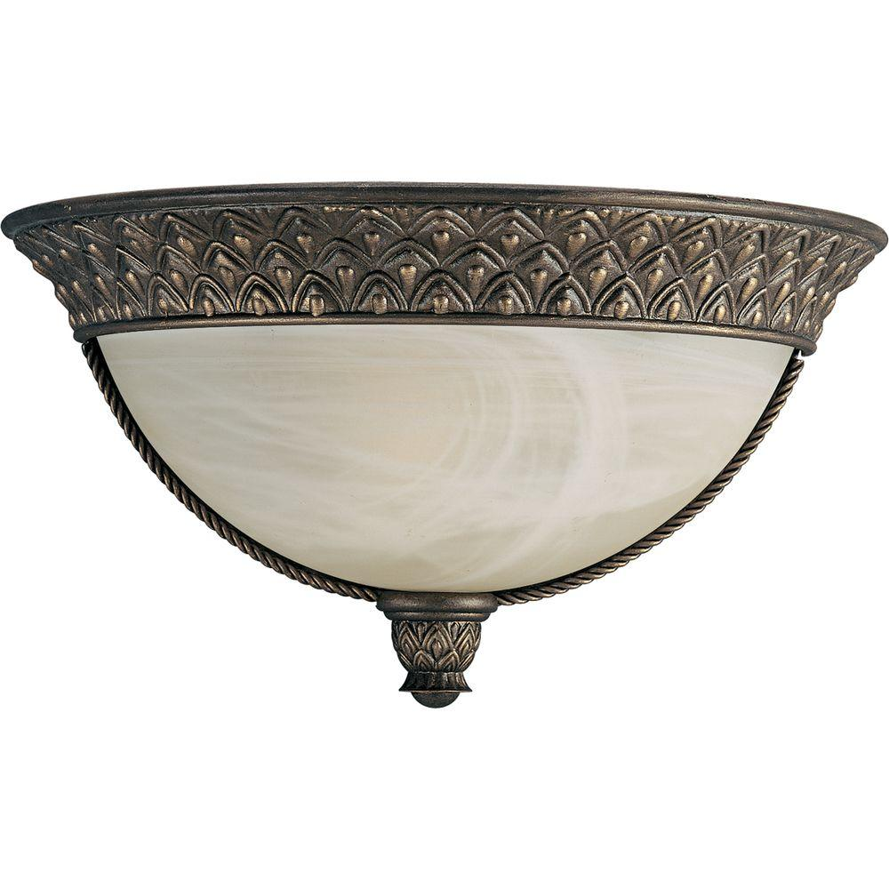 Progress Lighting Savannah Collection 1-Light Burnished Chestnut Wall Sconce-DISCONTINUED