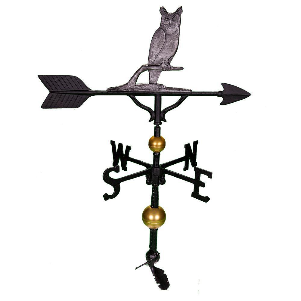 Montague 32 in. Deluxe Swedish Iron Owl Weathervane
