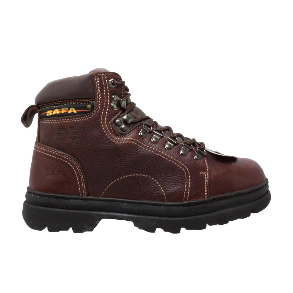 b0d24eb2aa9 AdTec Men's Size 14 Brown Grain Tumbled Leather 6 in. Metatarsal Hiker Work  Boots