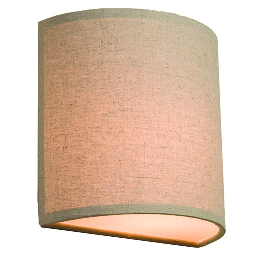 ARTCRAFT Mercer Street 1-Light Oat Meal Sconce The winning Mercer Street series of beautiful drum shades now has matching half circle wall bricks in Oat Meal Color