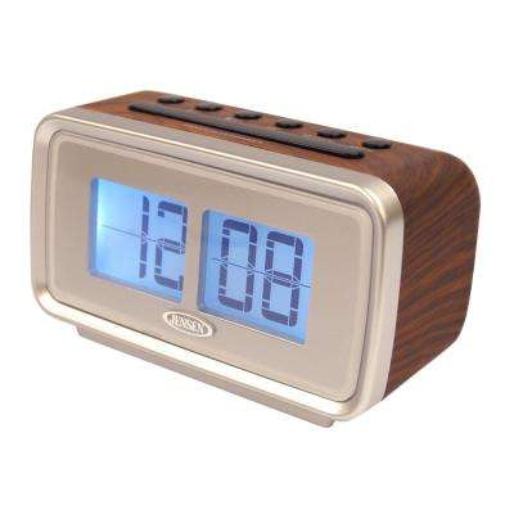 AM and FM Dual Alarm Clock with Digital Retro Flip Display