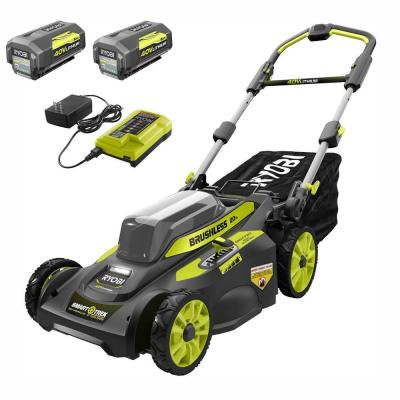 20 in. 40-Volt Brushless Lithium-Ion Cordless Smart TREK Self-Propelled Walk Behind Mower Two 6.0 Ah Batteries & Charger
