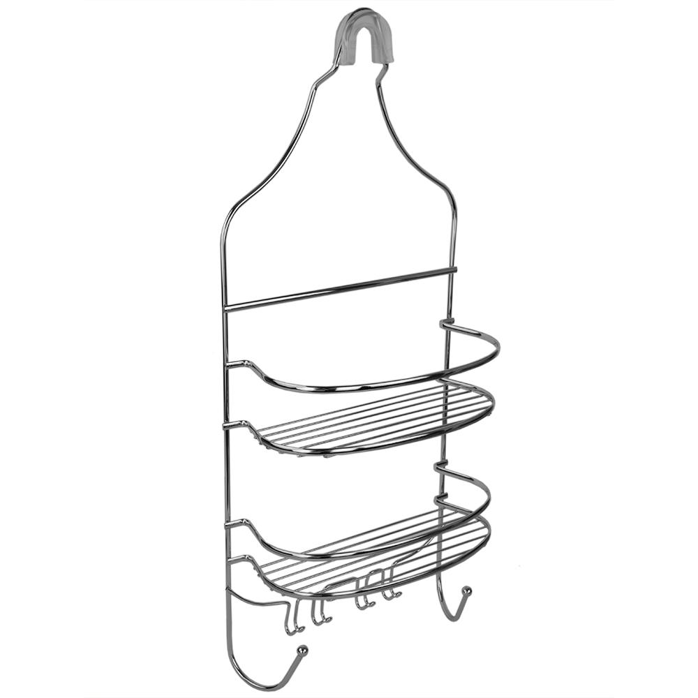 Home Basics Flat Wire Shower Caddy in Chrome-SC00460 - The Home Depot