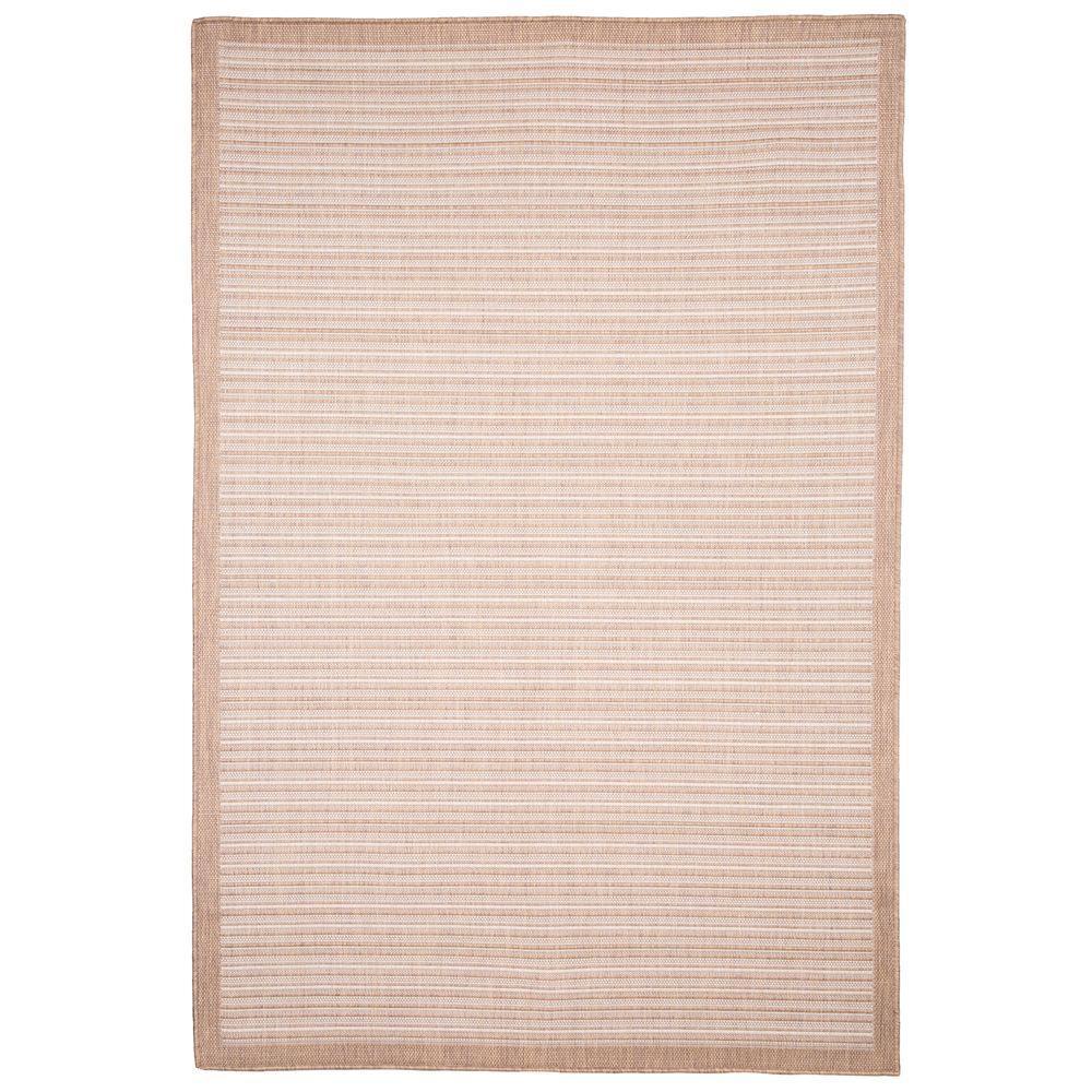 Casual Stripe Beige 5 Ft. X 7 Ft. 7 In. Indoor/Outdoor