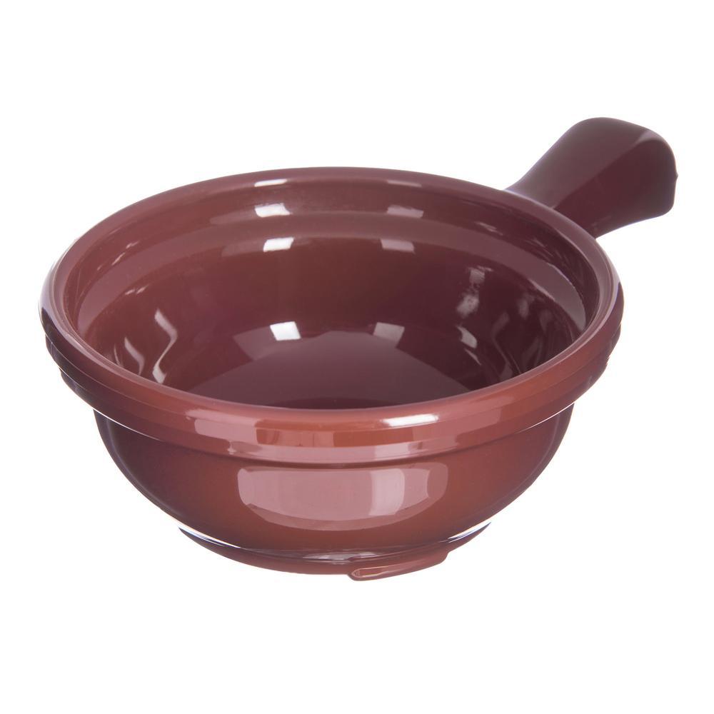 Carlisle 8 oz. Lennox Brown Plastic Handled Soup Bowl (24-Pack) 7006