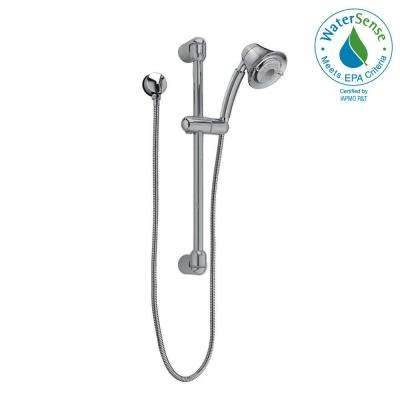 FloWise Transitional 3-Spray Wall Bar Shower Kit in Brushed Nickel
