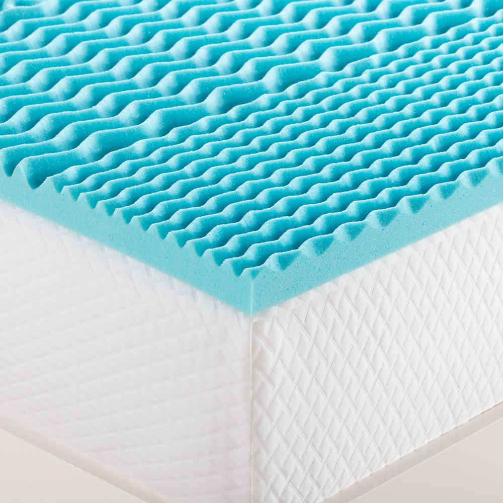 2 in. Zoned Gel Memory Foam Mattress Topper