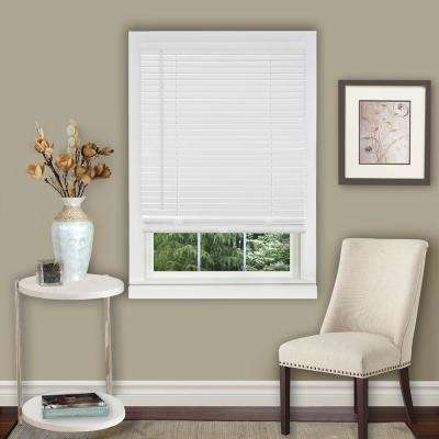 35 in . W x 64 in. L White 1 in. Vinyl Blind
