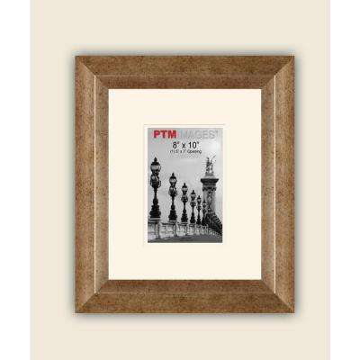 1-Opening 5 in. x 7 in. White Matted Champagne Photo Collage Frame