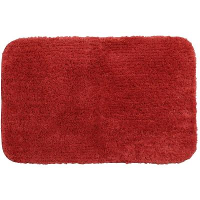 Duo Red 17 in. x 24 in. Nylon Bath Rug