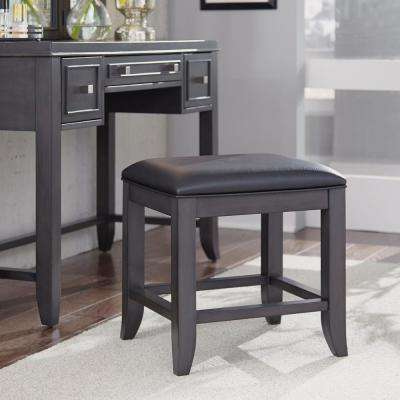 5th Avenue Gray Upholstered Vanity Bench