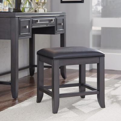 Admirable 5Th Avenue Gray Upholstered Vanity Bench Alphanode Cool Chair Designs And Ideas Alphanodeonline