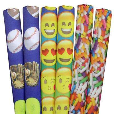Sprinkles, Sports, Emojis Pool Noodles (6-Pack)