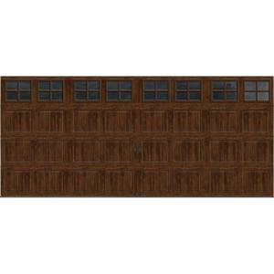 Clopay gallery collection 16 ft x 7 ft 6 5 r value for 17 foot wide garage door